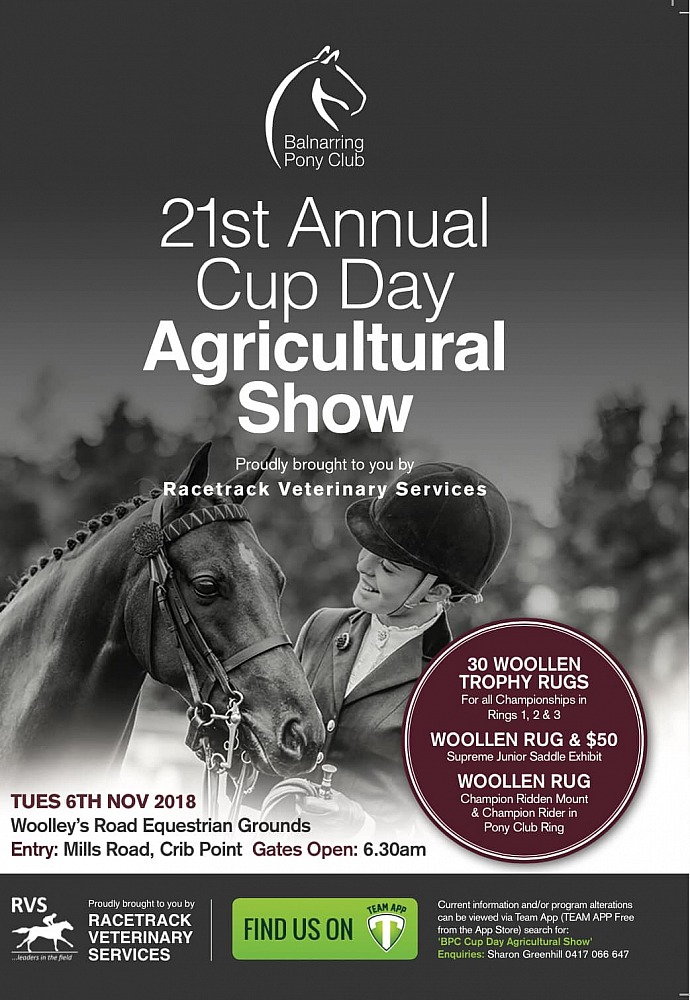 2018 Balnarring Pony Club Cup Day Agricultural Show